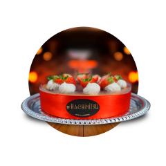 CHEESE CAKE COM CALDA DE FRUTAS VERMELHAS - KG